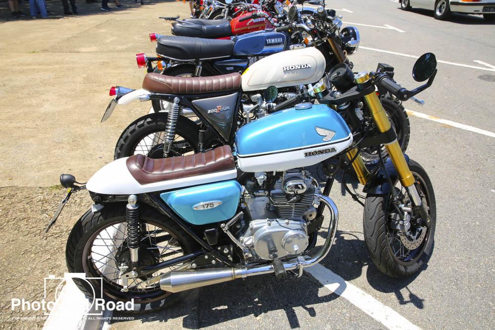 Uma Honda CB 175 de 1968, descaracterizada